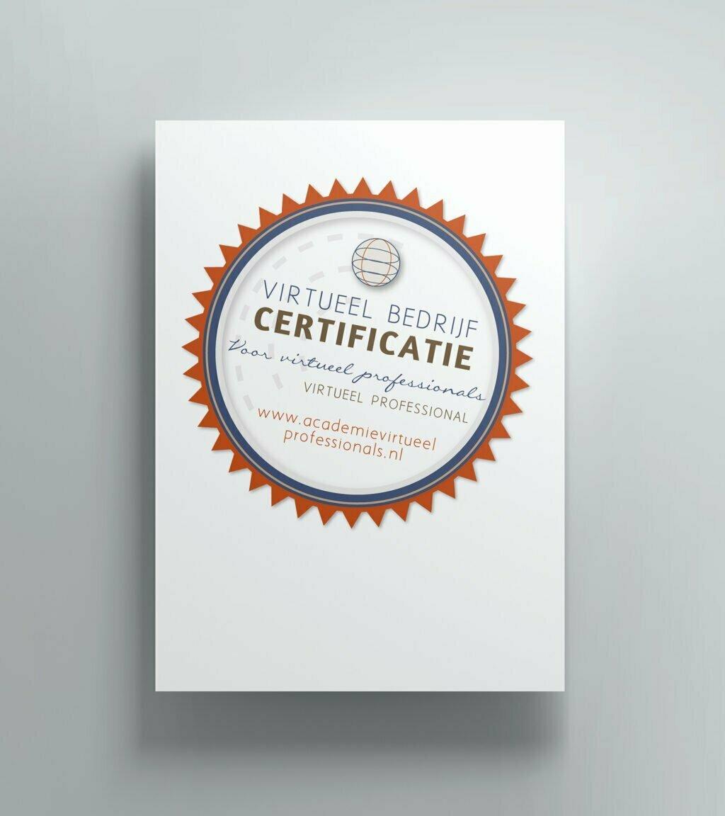 Binnen 10 weken een lopend VP bedrijf - certificaat