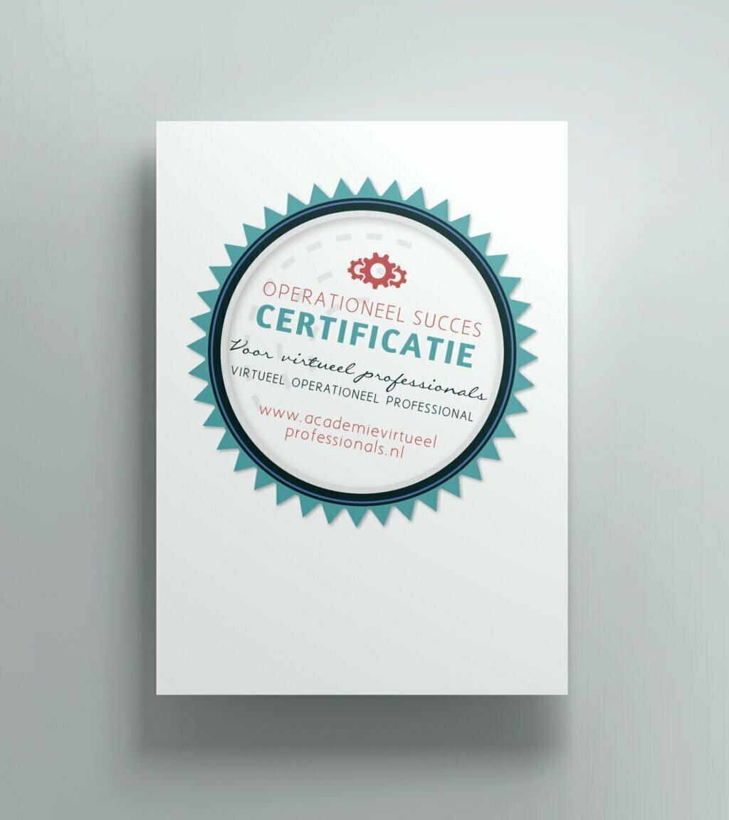 Certificaat opleiding Operationeel Succes