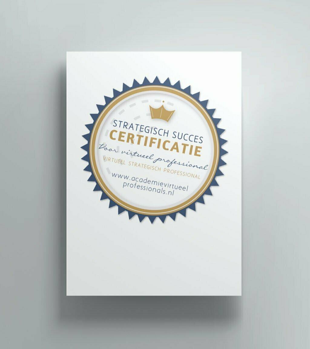 Certificaat opleiding Strategisch Succes