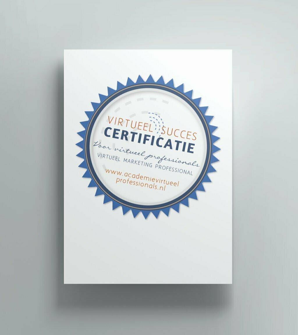 Certificaat opleiding Virtueel Succes