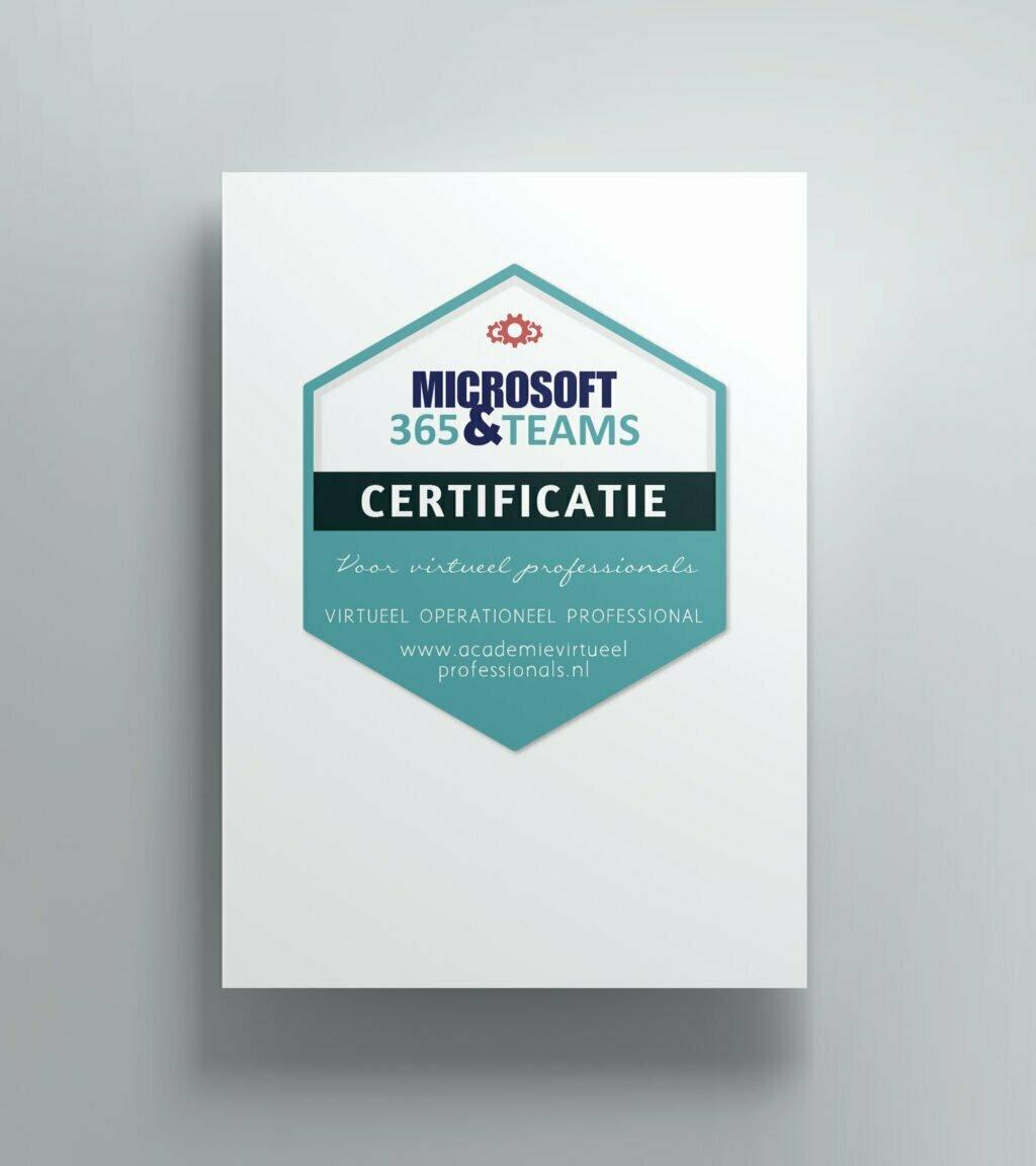 Certificaat opleiding Microsoft 365 en teams